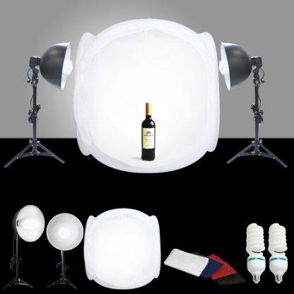 "Studio in a box photo studio kit 24"" tent 1000 watt output"