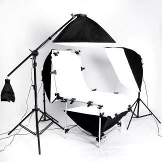 2000 watt output 4 head studio in a box shooting table kit