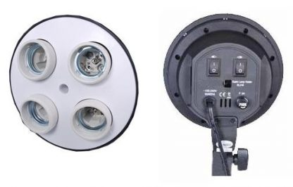 4 socket light head with power cord