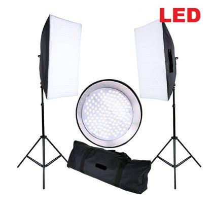 Continuous LED Lighting 2 x 144PCS 5500K LED beads Softbox kit