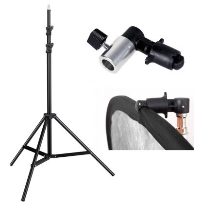 New 8ft stand with clamp for reflector or backdrop panel